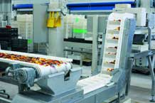 Sweets on an incline conveyor systems